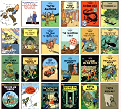 [Original U.S. Edition, 23 Books Set] The Adventure Of Tintin - Collection Set of All Original 23 Full Sized Titles by Little, Brown and Co Comic Books Strip Series