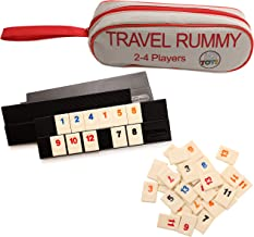 IQ Toys 106 Tiles Travel Rummy in A Strong Travel Bag - for 2-4 Players