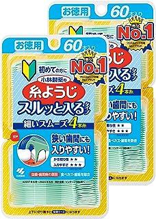 [量贩装] 小林制药 可以轻松放入狭窄牙缝 牙线&牙线棒 牙线&牙线棒 60根×2个