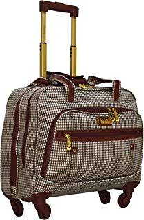 Nicole Miller Taylor Carry On Spinner Briefcase (Taylor Brown Plaid)