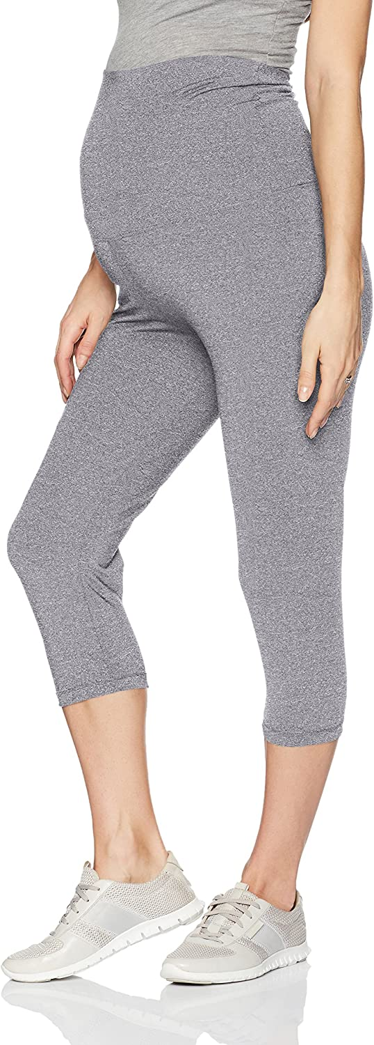 Belabumbum Womens Women's Maternity and After Activewear Capri Pant with Belly Support Maternity Pants