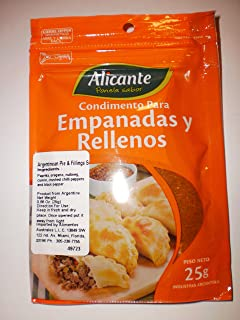 Alicante Especias y Condimentos (Condimento para Empanadas, 25 gr.) - PACK of 2.