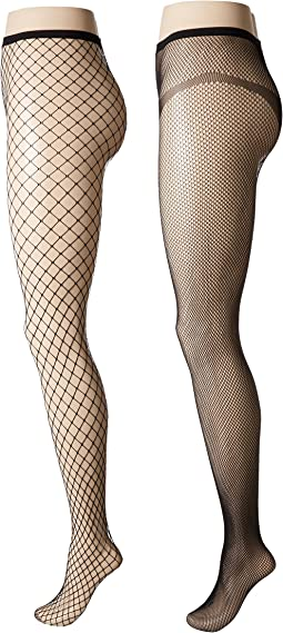 Calvin Klein - Fishnet Tights 2-Pair Pack