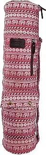 Kindfolk Yoga Mat Sling Bags Carrier Patterned Canvas Three Pockets