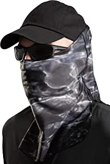 Aqua Design Sun Wind Mask for Men Size Adjustable XS-2XL: UPF 50+ Half Mask Tube