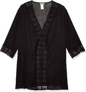 La Blanca Women`s V-Neck Lace Tunic Cover Up