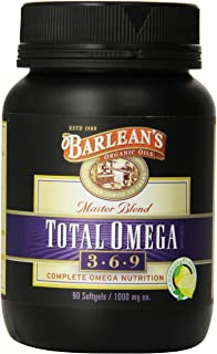 Barlean's Organic Oils Total Omega, Lemonade Flavor, 90 Softgels / 1000 mg Each