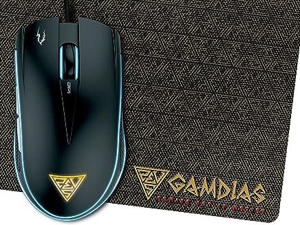 """GAMDIAS Gaming Raton Ã""""ptico 6 Pulsadores Inteligentes Y Doule RGB LED (Zeus E1)"""