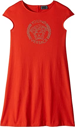 Cap Sleeve Dress with Medusa Logo (Big Kids)