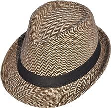 Simplicity Men's Women's Manhattan Structured Gangster Trilby Fedora Hat