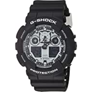 G-Shock GA-100BW-1A White and Black Series Luxury Watch - Black/One Size