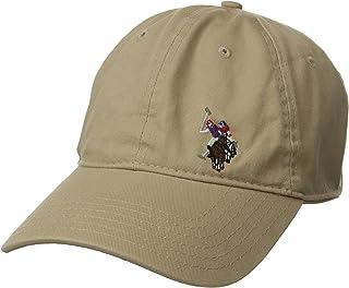 يو.اس. بولو اسن قبعة بيسبول من التويل المغسول للرجال، رسمة حصان مطرزة على المقدمة