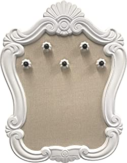 """Sponsored Ad - Creative Picture Frames 16"""" x 20.5"""" Venice Wall Mounted Jewelry Frame Organizer, Shabby Chic White Decorati..."""