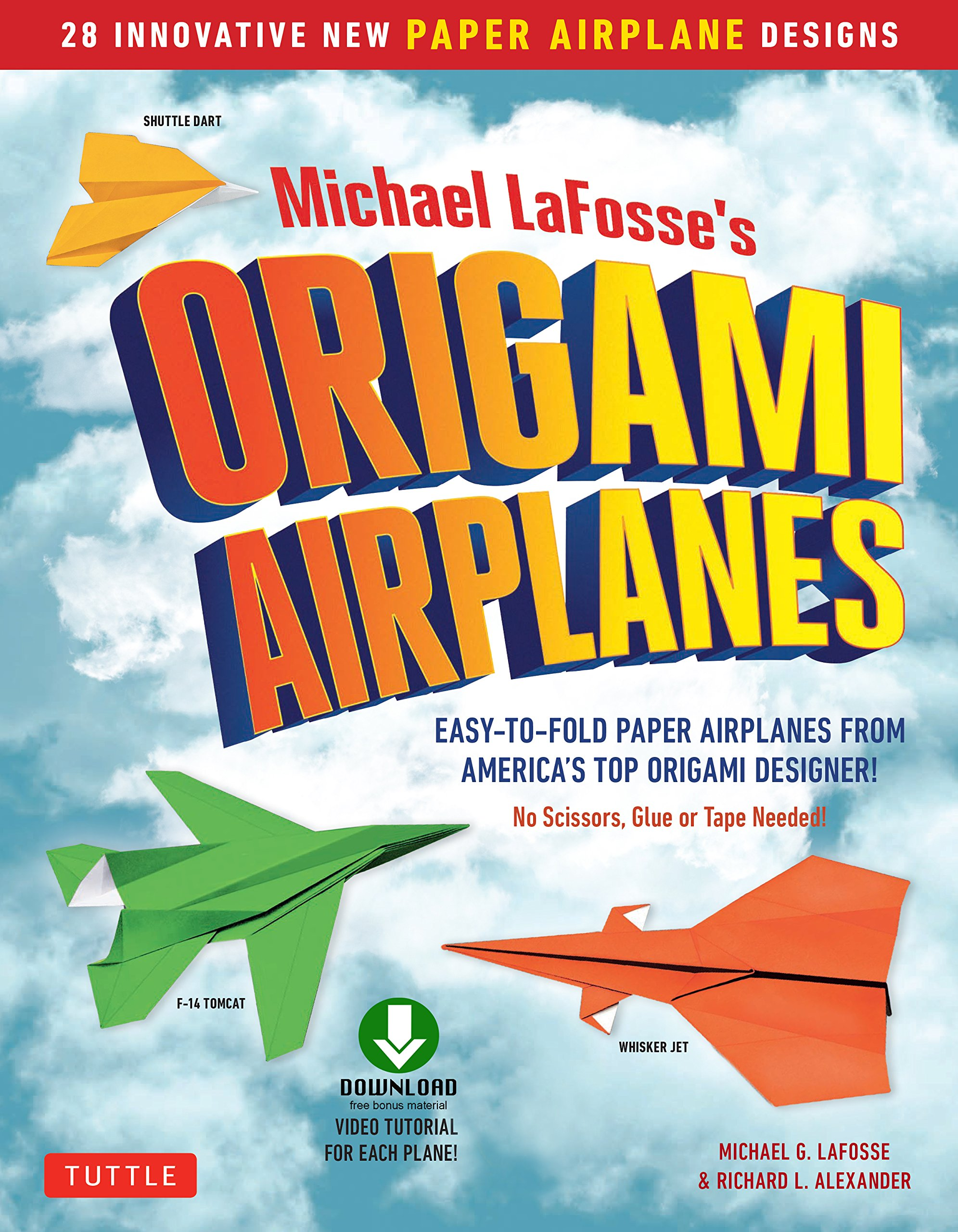 Download Planes for Brains: 28 Innovative Origami Airplane Designs: Includes Full Color Origami Book with Downloadable Video Instru...