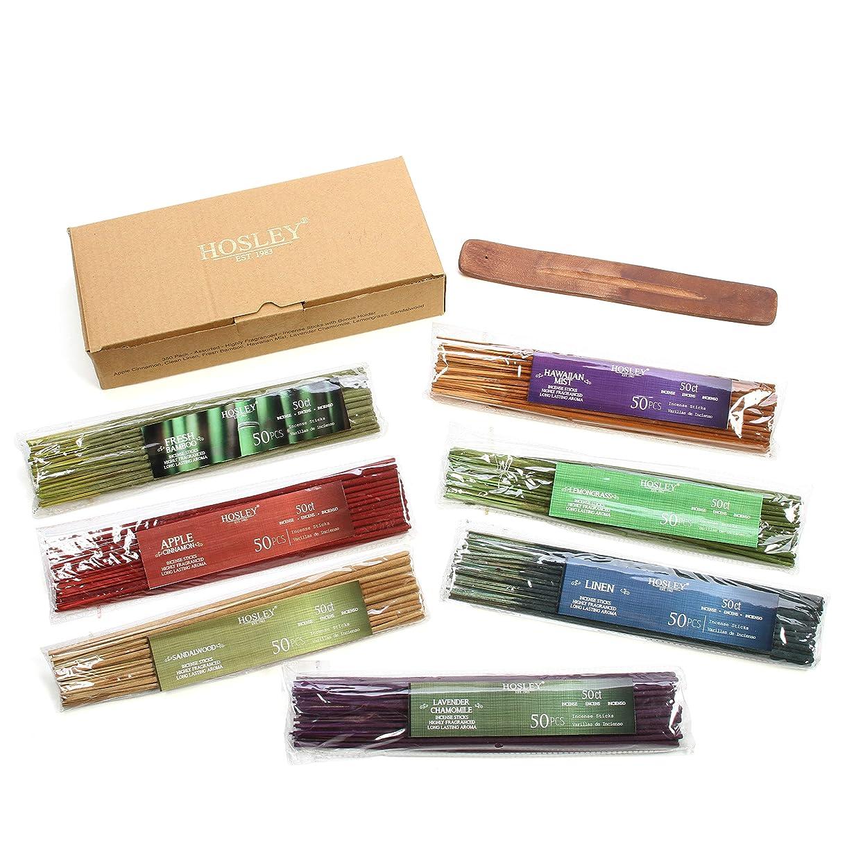 人敗北から聞くHosley's Assorted 350 Pack Incense Sticks, Highly Fragrances include: Apple Cinnamon, Hawaiian Mist, Sandalwood, Linen, Fresh Bamboo, Lemongrass, and Lavender Chamomile. Great for Aromatherapy.