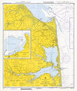 Map - Cape Henlopen To Indian River Inlet, 1972 Nautical NOAA Chart - Delaware (DE) - Vintage Wall Art - 44in x 53in