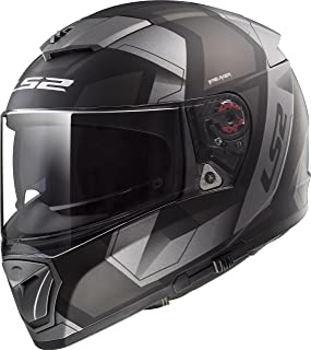 LS2 Helmets Unisex-Adult Full-face-Helmet-Style Motorcycle (Physics Black XXX-Large