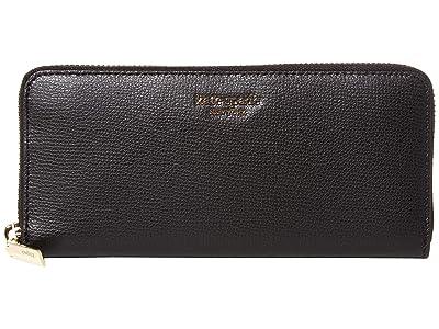 Kate Spade New York Margaux Slim Continental Wallet (Black) Checkbook Wallet