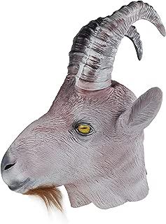 Halloween Latex Masks Rubber Goat Ram Antelope Animal Head Masks Party Costumes