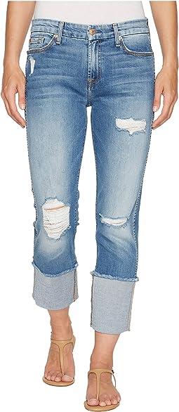Fashion Boyfriend Jeans w/ Wide Raw Cuff & Destroy in Vintage Air Classic 3