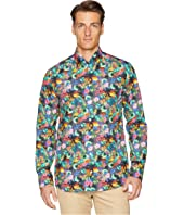 Eton - Slim Fit Tropical Print Shirt