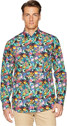 Slim Fit Tropical Print Shirt