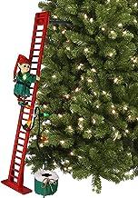 "Mr. Christmas 40"" Super Climbing, Red Elf/Green Ladder"