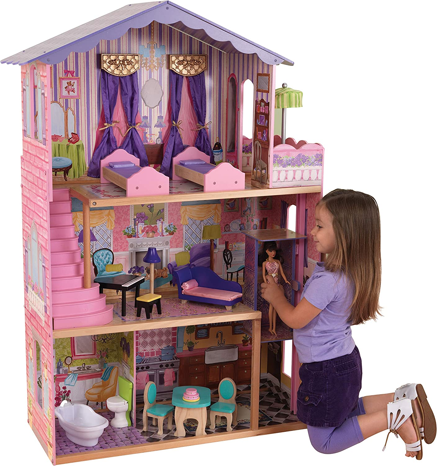 KidKraft My Dream Mansion with Accessory 12-Piece Gift Topics on TV Set for Seattle Mall