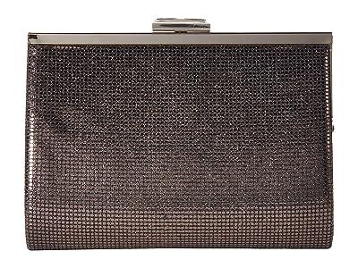 Jessica McClintock Mckayla Frame Clutch (Pewter) Clutch Handbags
