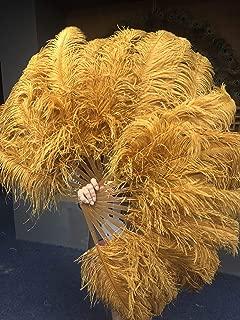 Hot-Fans Topaz Single Layer Ostrich Feather Fan 24