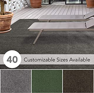 iCustomRug Affordable Indoor/Outdoor Carpet with Marine Backing, Many Carpet Flooring for Patio, Porch, Deck, Boat, Basement or Garage