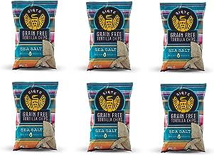 Siete Sea Salt Grain Free Tortilla Chips, 5 oz bags, 6-Pack
