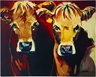 Creative Co-op 2 Cows Canvas Wall Décor