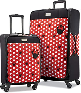 American Tourister Disney Softside Luggage with Spinner Wheels, Minnie Mouse Dots, 2-Piece Set (21/28)