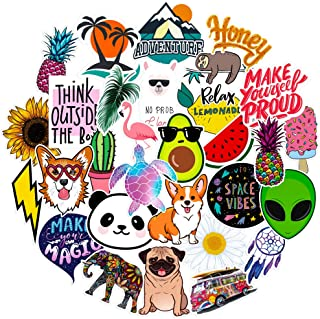 Stickers for Water Bottles Big 30-Pack Cute,Waterproof,Aesthetic,Trendy Stickers for Teens,Girls Perfect for Waterbottle,Laptop,Phone,Travel