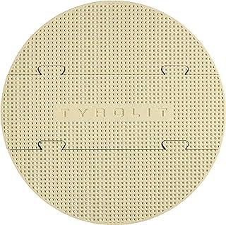 Tyrolit Life - Piedra para Pizza Flexible para Parrilla y Horno, 330 x 10 mm, de cordierita, 3 Piezas, con Pala de Madera