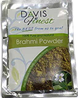 Brahmi Powder Bacopa Hair Growth Treatment for Fine Flyaway Hair - Pure Natural Skincare & Haircare – Rejuvenating Antiaging Face Mask