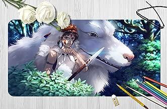 3D Princess Mononoke 863 Japan Anime Game Non-Slip Office Desk Mouse Mat Game AJ WALLPAPER US Angelia (W60cmxH30cm(24