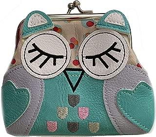 Cute Owl Coin Purses Pouch Kiss-Lock Change Purse Wallets Vegan Leather