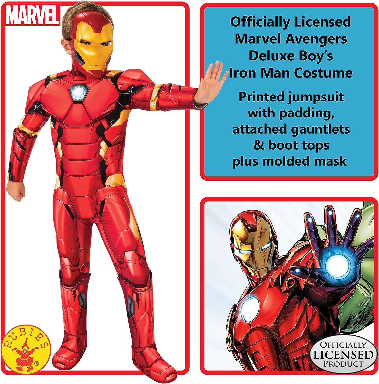 Rubies Boys Marvel Avengers Deluxe Iron Man Costume Large