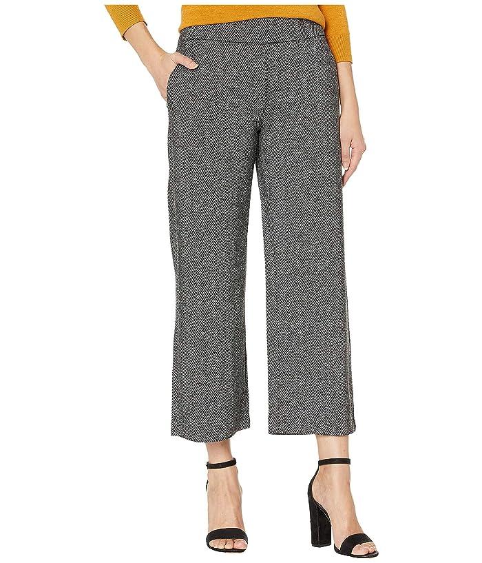 Liverpool  Mabel Pull-On Wide Leg in Herringbone Knit (Black/Grey) Womens Casual Pants