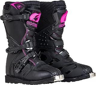 O'Neal Girls New Logo Rider Boot (Black/Pink, Size 2)