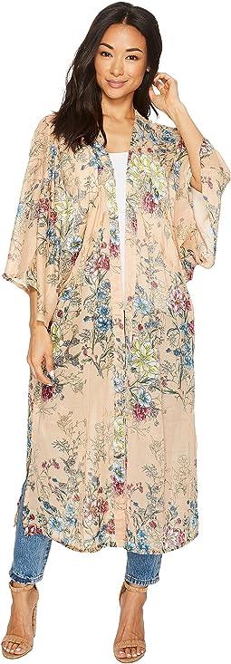 Steve Madden Linear Floral Duster Kimono