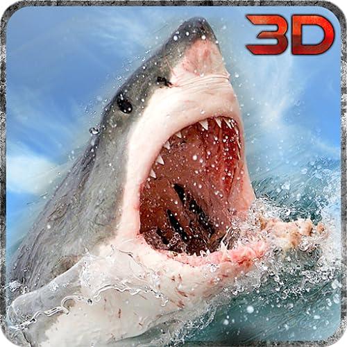 Monstruo marino simulación de ataque de tiburón 3D