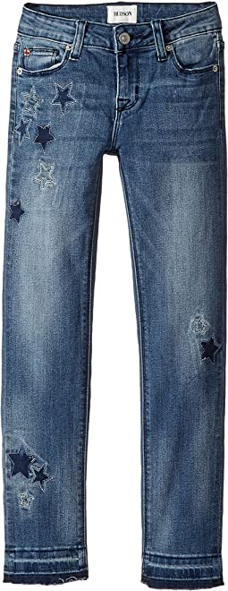Hudson Kids - Stardust Skinny Jeans w/ Star Patches in Buffalo (Big Kids)