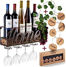 Wall Mounted Wine Rack – Bottle & Glass Holder – Cork Storage Store Red,..