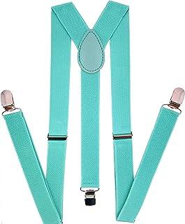 Navisima tirantes ajustables y elásticos en Y para hombres y mujeres con clips de metal fuerte
