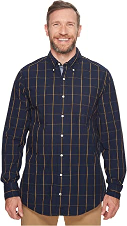 Nautica Big & Tall - Big & Tall Long Sleeve Windowpane Shirt