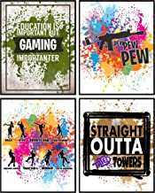 Video Gamer Themed Fort Battle Drop Royale Party Supply (Room Art Prints)