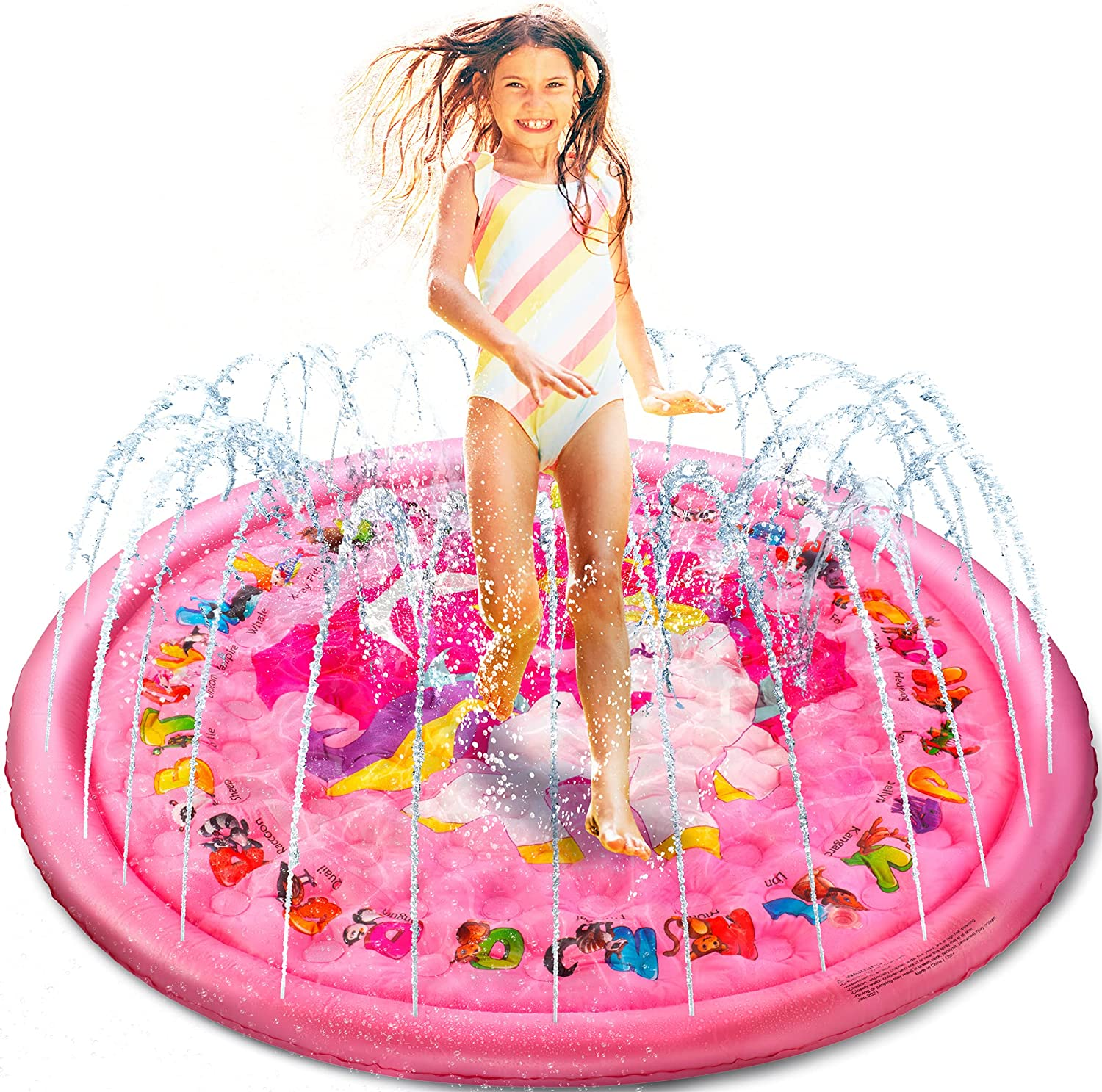Splash Pads for Courier shipping free Toddlers Ages 1-3 Baby Super beauty product restock quality top! Kids 8-12 Wading
